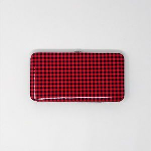 New and Never Used Plaid Wallet